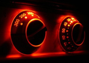 Oven timer and temperature set up