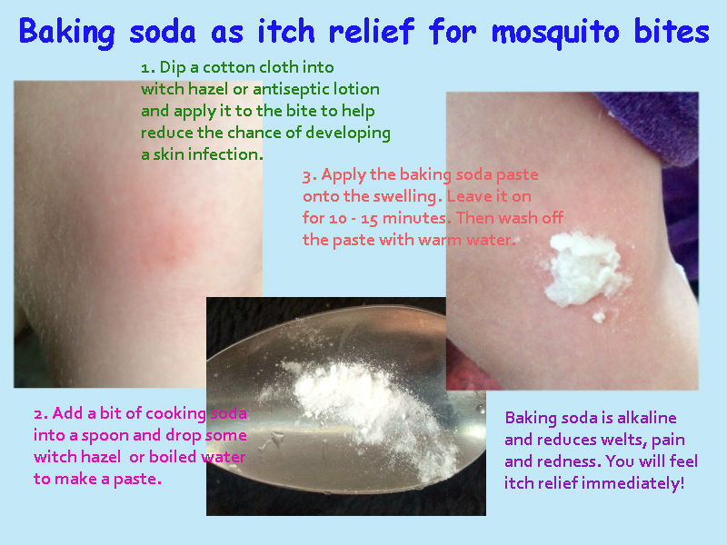 Mosquito bite cure prevents skin infection and reduces itching