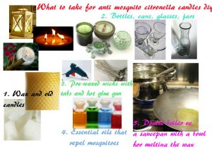 What is neecessary for mosquito repellent citronella candle diy