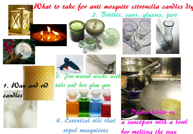 What is necessary for mosquito citronella candles diy
