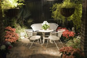 Patio free from mosquitoes at night