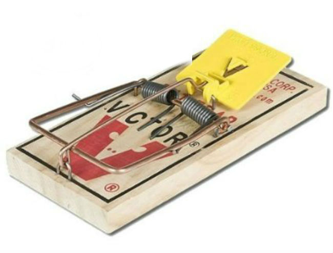 Victor mechanical wooden rat trap